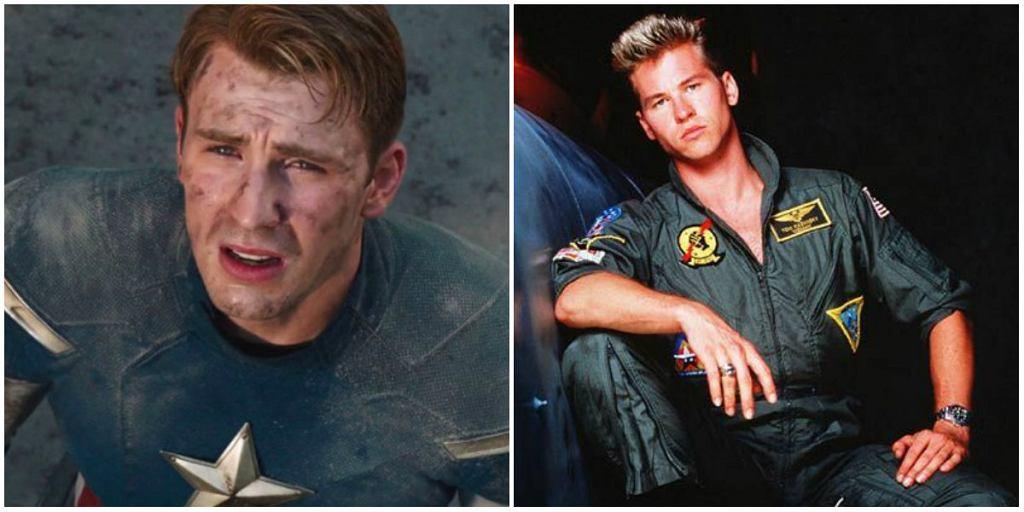 Chris Evans jako Kapitan Ameryka i Val Kilmer / fot. kadr z filmu i mat. promocyjny filmu Top Gun