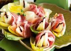 Ruloniki z szynki parmeńskiej w liściach cykorii - Zdjęcia