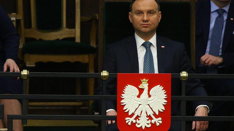 09.02.2017 , prezydent Andrzej Duda na 35. Posiedzeniu Sejmu VIII Kadencji