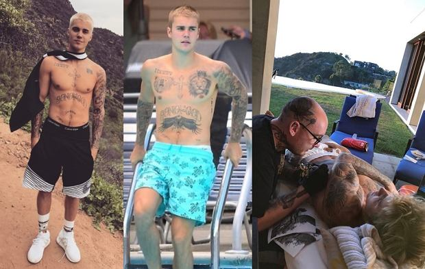 Ewolucja tatuaży Justina Biebera od 2016 roku