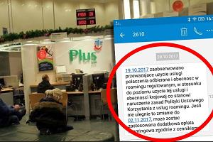 Niektórzy klienci sieci Plus otrzymują informacje o możliwości naliczenia opłat za roaming
