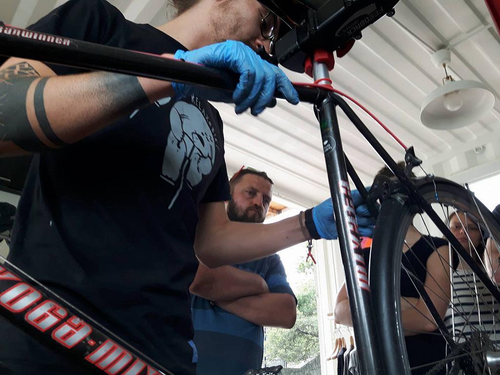 Otwarte warsztaty rowerowe na Placu Zabaw nad Wisłą / Fot. Plac Zabaw