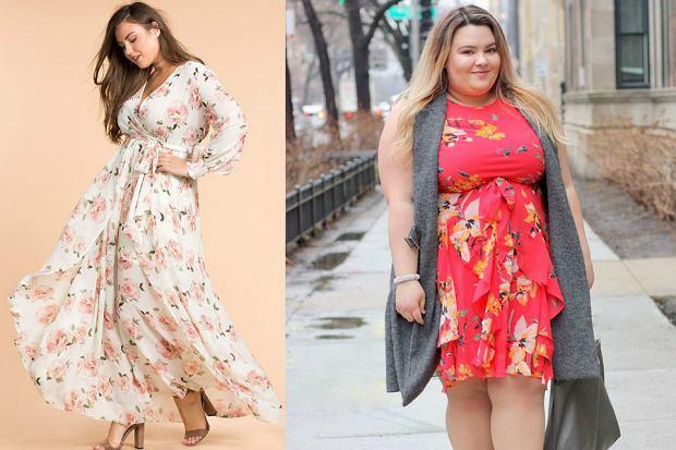 Kolorowe sukienki plus size