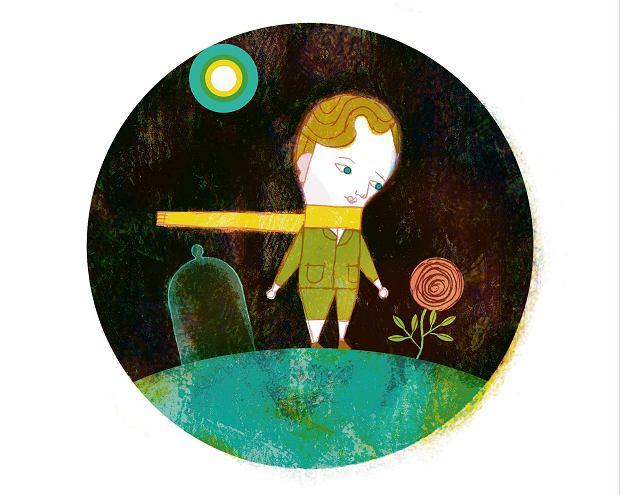 Ilustracja Pawła Pawlaka do 'Małego Księcia' Saint-Exupéry'ego