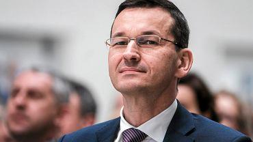 Nowy premier Mateusz Morawiecki. Na zdjęciu jeszcze jako wicepremier i minister rozwoju podczas otwarcia nowego zakładu produkcyjnego Aero Gearbox Internaional (AGI). Ropczyce, 12 kwietnia 2017.