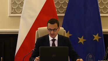 Premier Mateusz Morawiecki podczas posiedzenia Rady Ministrów