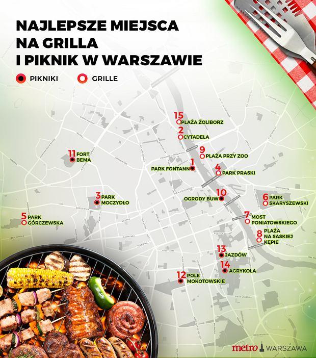 Gdzie zrobić grilla i piknik w Warszawie