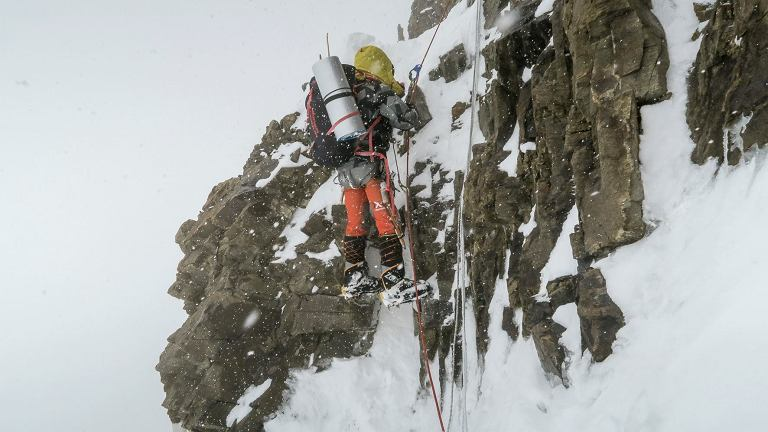K2. Spiętrzenie skalne (ok. 6400m).
