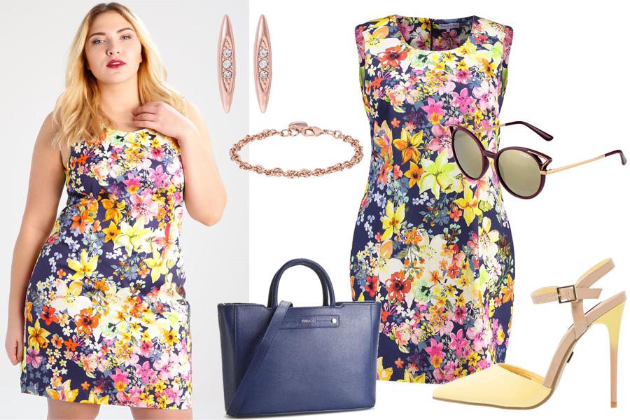 Stylizacja elegancka sukienka na lato / Kolaż / Materiały partnera