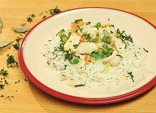 Potrawka z kurczaka z zielonym groszkiem - ugotuj