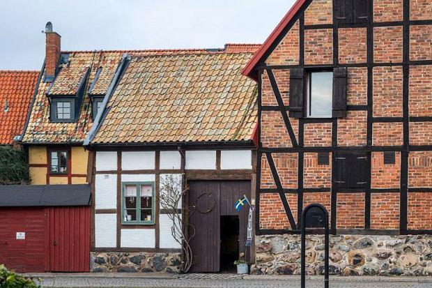 W Ystad znajduje się najwięcej w całej Skandynawii domów szachulcowych