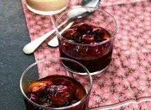 Kompot owocowy z kremem waniliowym - ugotuj