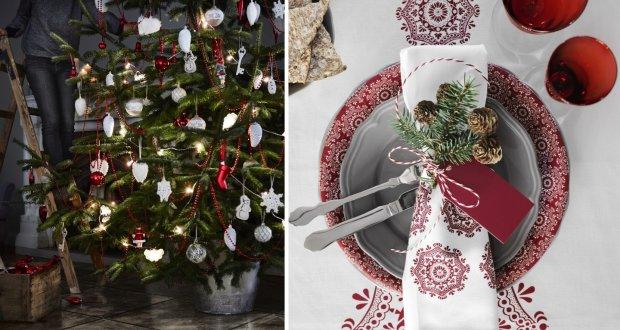 Biało-czerwone dekoracje świąteczne