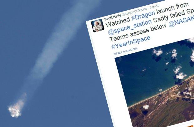 Rakieta Falcon 9 eksplodowa�a dwie minuty po starcie. Ze stacji kosmicznej ogl�dali to astronauci, kt�rym mia�a dostarczy� zapasy [WIDEO]