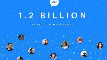 Facebook Messenger ma 1,2 mld użytkowników