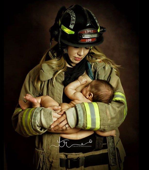 Strażaczki, lekarki i żołnierki też karmią piersią