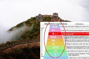 Agencja Moody's obniża rating Chin. Pierwszy raz od dekad.  Analitycy przewidują wzrost zadłużenia