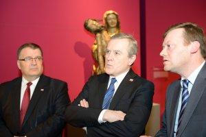 1050. rocznica chrztu Polski. Wicepremier Piotr Gliński otworzył wystawę zabytków w Muzeum Narodowym