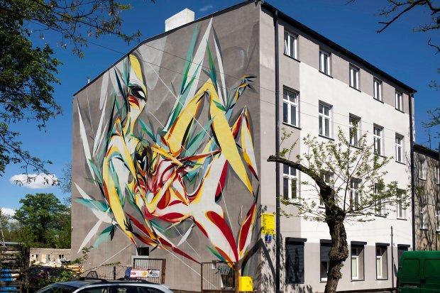 Zwierz co ludzka hybryda nowy mural w odzi zdj cia for Mural legionowo
