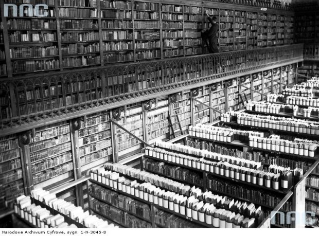 Bibliotheque de l'Université Jagiellon à Cracovie en 1937.