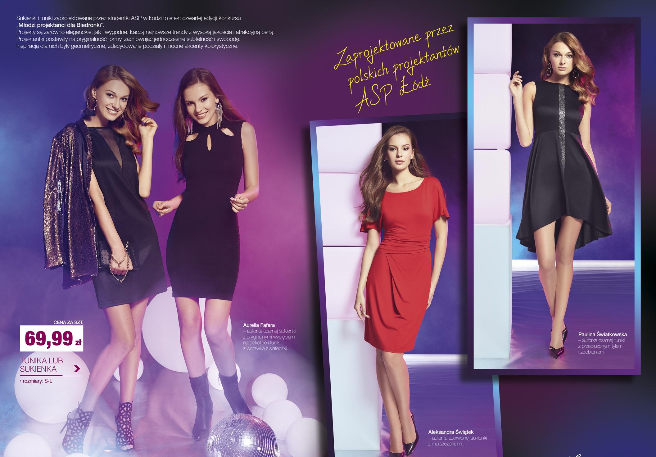 37a9c03c5a Sylwestrowe sukienki w Biedronce! Zaprojektowały je trzy studentki ...