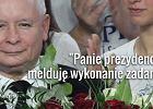 """Szał radości: """"Lech Kaczyński! Jarosław!"""". Prezes PiS: Panie prezydencie, melduję wykonanie zadania! [CYTATY]"""