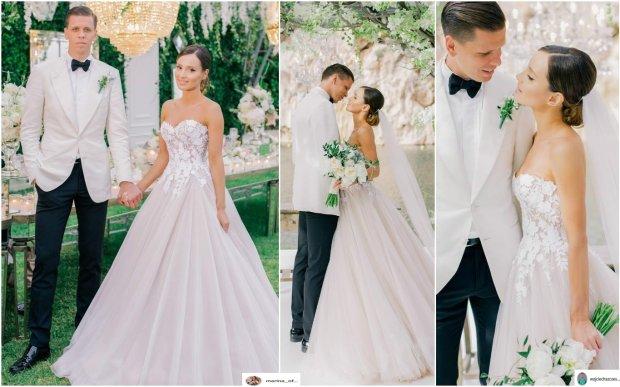 Zdjęcie numer 3 w galerii - Grosicki pokazał zdjęcia ze ślubu. Suknia panny młodej ładna, ale JEJ nie przebiła. To ona miała najpiękniejszą suknię wśród WAGs