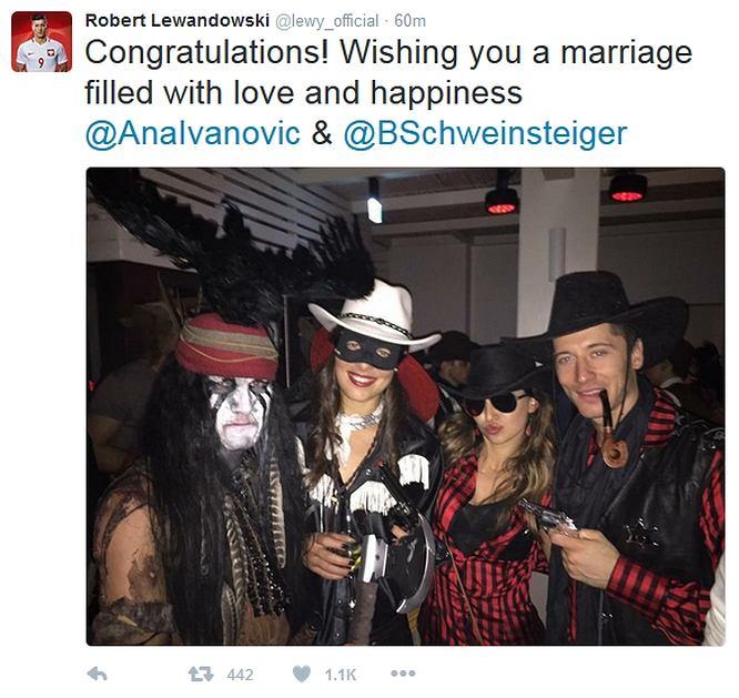 Zdjęcie numer 1 w galerii - Bastian Schweinsteiger i Ana Ivanović pobrali się! Lewandowski gratuluje [ZDJĘCIA]