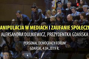 Dulkiewicz na Personal Democracy Forum: W walce z manipulacją w mediach ważne jest odsiewanie ziaren od plew