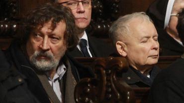 Jan Maria Tomaszewski  i Jarosław Kaczyński na 91. miesięcznicy smoleńskiej