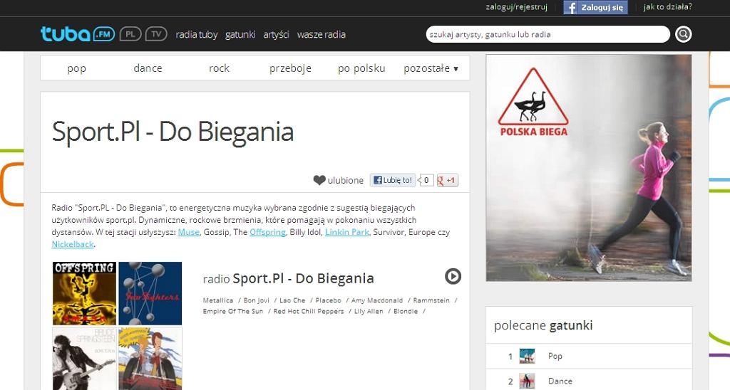 Tuba.fm - radio Sport.PL - Do biegania stworzone przez biegaczy z Facebooka Polska Biega