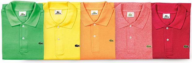 Krokodyl na korcie czyli historia marki Lacoste, moda męska, logo z klasą, Od ponad 40 lat firma robi nie tylko białe polówki. Teraz można je kupić w 25 różnych kolorach