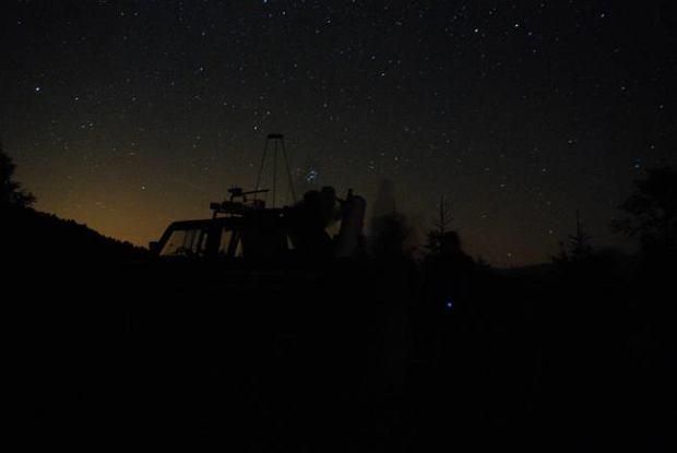 Nocne niebo nad Sopotnią Wielką