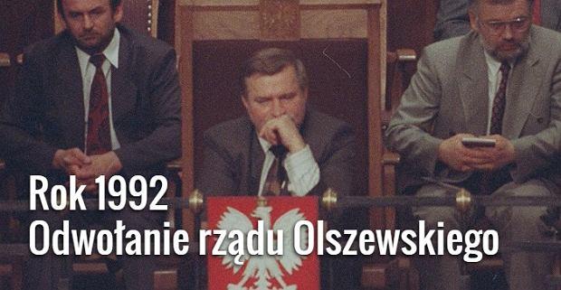 Lech Wałęsa w Sejmie 5 czerwca 1992 roku