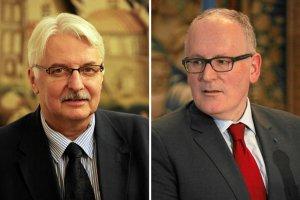 Waszczykowski odpowiada Timmermansowi w zastępstwie Ziobry. Bo minister sprawiedliwości nie ma czasu