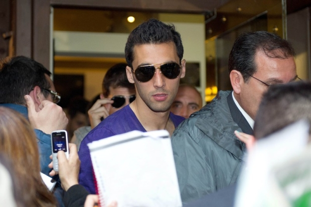 Alvaro Arbeloa going for a lunch to celebrate the victory in La Liga in Madrid on Thursday 3, May 2012