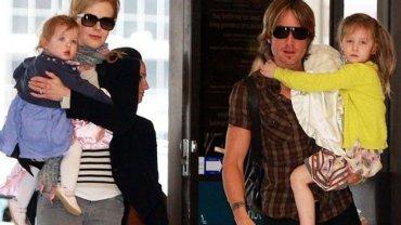 Nicole Kidman i Keith Urban z córkami, Faith Margaret i Sunday Rose w 2012 roku