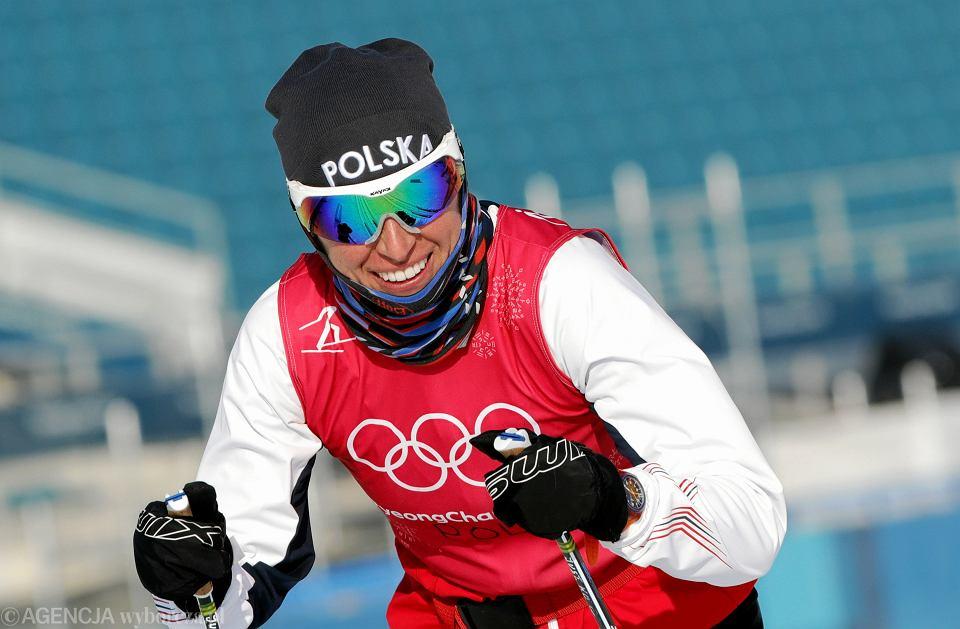 Justyna Kowalczyk podczas treningu. XXIII Zimowe Igrzyska Olimpijskie Pjongczang 2018, 8 lutego 2018