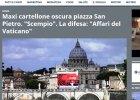 Protesty z Rzymie. Reklama zasłoniła Bazylikę Świętego Piotra
