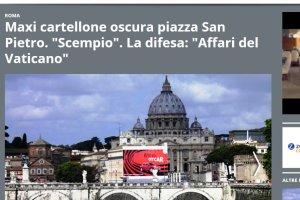 Protesty z Rzymie. Reklama zas�oni�a Bazylik� �wi�tego Piotra