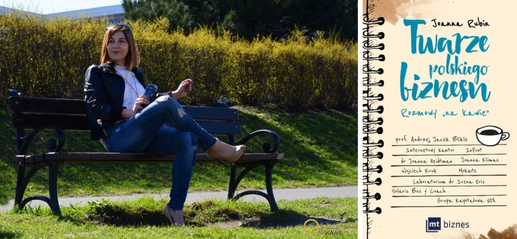 Joanna Rubin (fot. Emilia Staszków) i jej książka (fot. materiały prasowe)