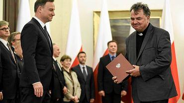 Prezydent RP Andrzej Duda i ks. prof. Paweł Bortkiewicz