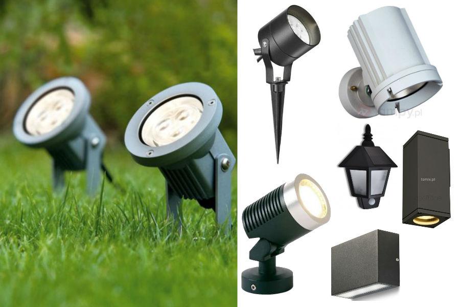 Oświetlenie ogrodu - kinkiety i reflektory