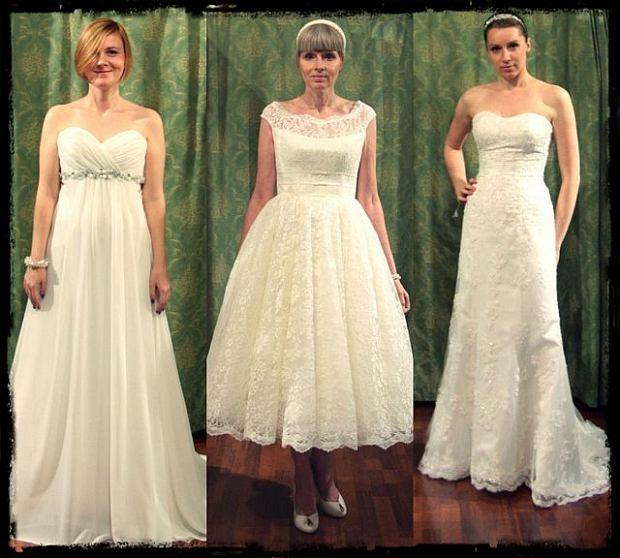 Suknia ślubna - pan młody wybiera, panna młoda przymierza [ZDJĘCIA]