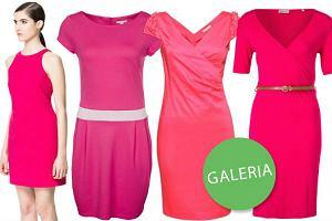 25 sukienek w kolorze głębokiego różu