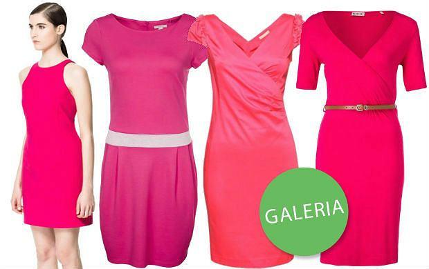 25 sukienek w kolorze g��bokiego r�u