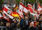 Marsz zwolenników skrajnie prawicowej partii NPD
