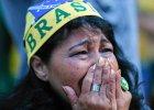 Smutek kibiców Brazylii po golach Holandii