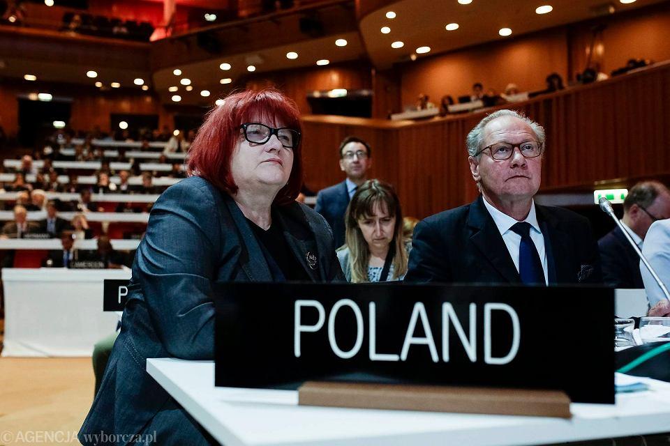 Polska delegacja podczas obrad 41 sesji UNESCO w małopolskim Międzynarodowym Centrum Kongresowym. Kraków 5 lipca 2017