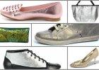 Metaliczne buty i torebki
